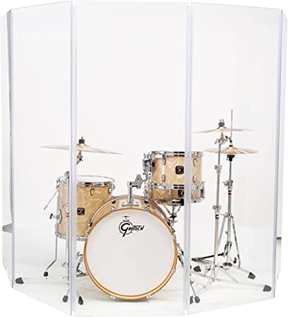 Acrylic Drum Shield Drum Screen DS3 L FIVE Panels 2/' x 4/' with Living Hinges