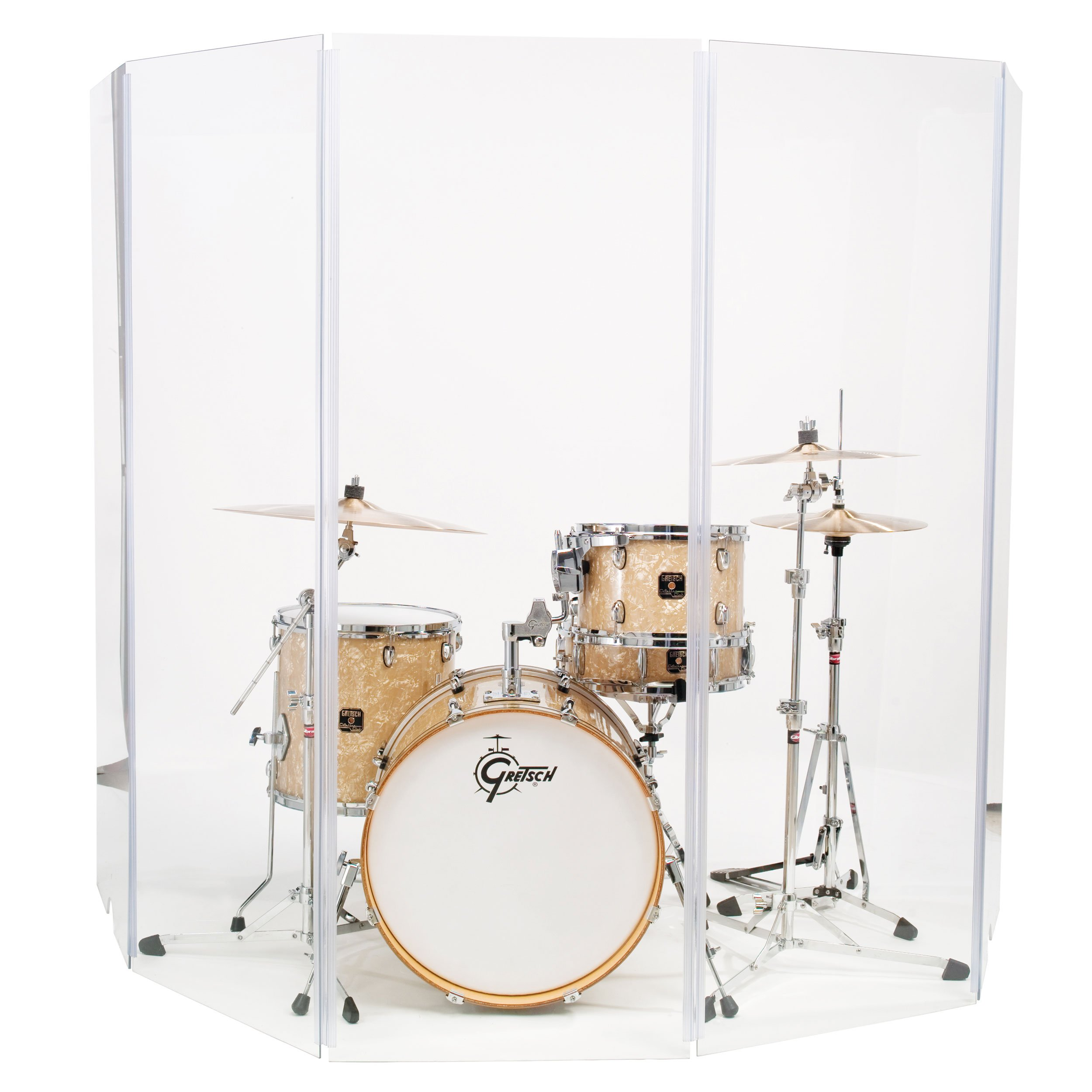 Drum Shield Drum Screen Drum Panels Ds65L Five 2ft X 6ft Drum Panels with Living Hinges