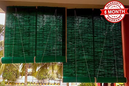 Buy Sai Praseeda Bamboo Curtain For Balcony Window Net With Roll Up