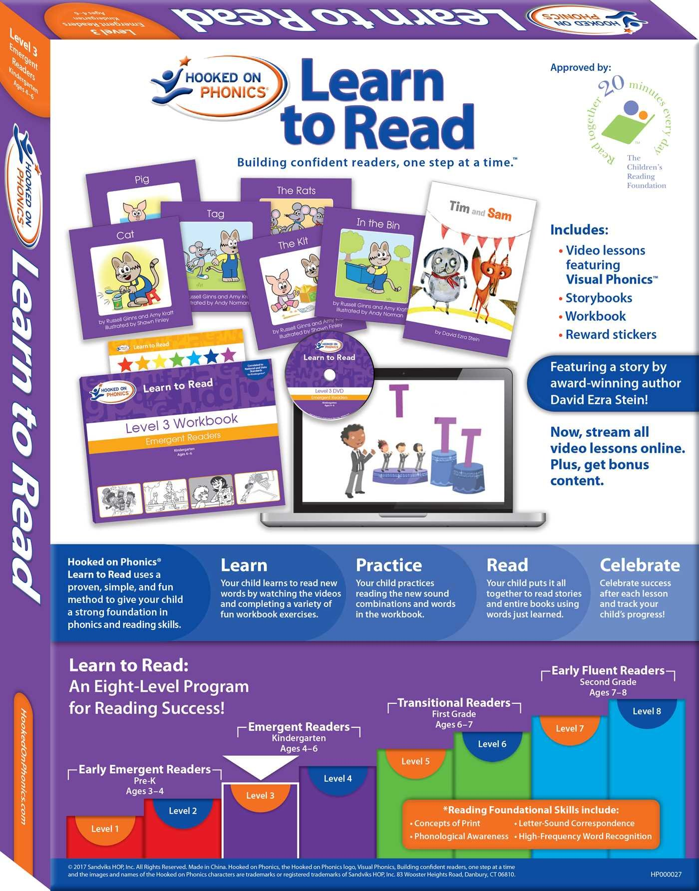 Hooked On Phonics Learn To Read Level 3 Emergent Readers