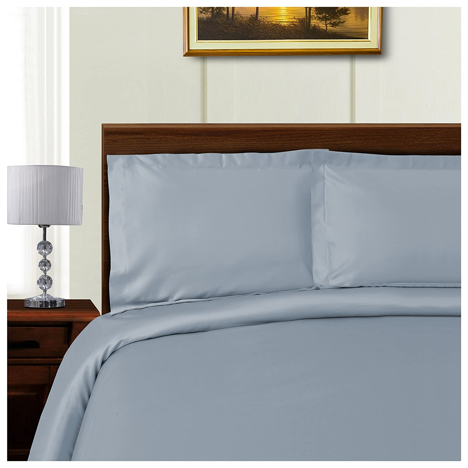 Wrinkle Free Cotton Polyester Blend 600 Thread Count Duvet Covers Set
