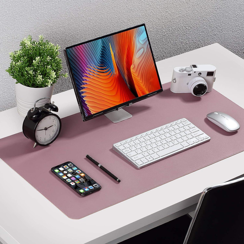 doppelseitig 60 x 35cm PU-Leder Tischunterlage Schreibtischunterlage Laptop Tischunterlage wasserdichte Schreibunterlage f/ür B/üro- oder Heimbereich Dunkelblau Upgrade Knodel Tischunterlage