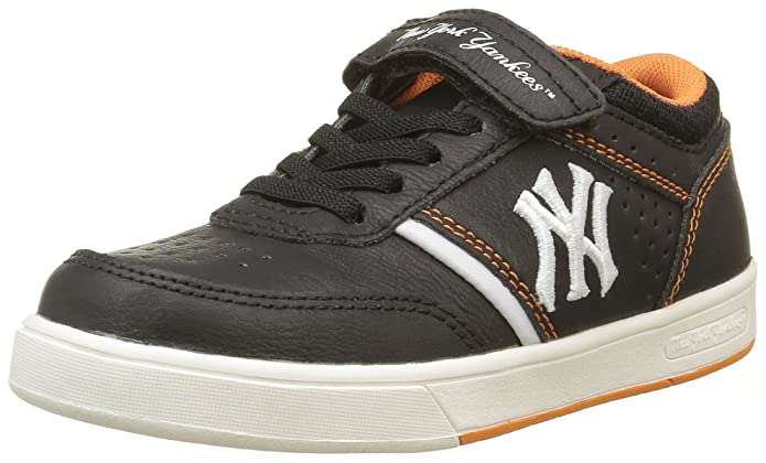 MLB New York Yankees Jungen Ferguson Low Sneakers, Schwarz (Black/Jaffa Orange 170), 30 EU