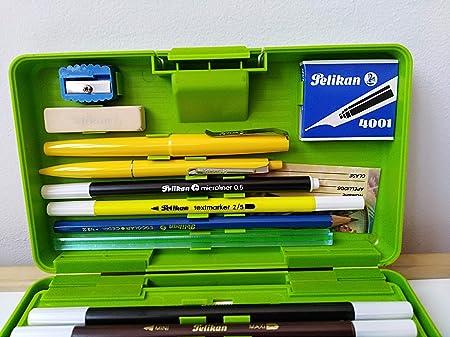Estuche plumier rigido Pelikan años 80 Verde: Amazon.es: Juguetes y juegos