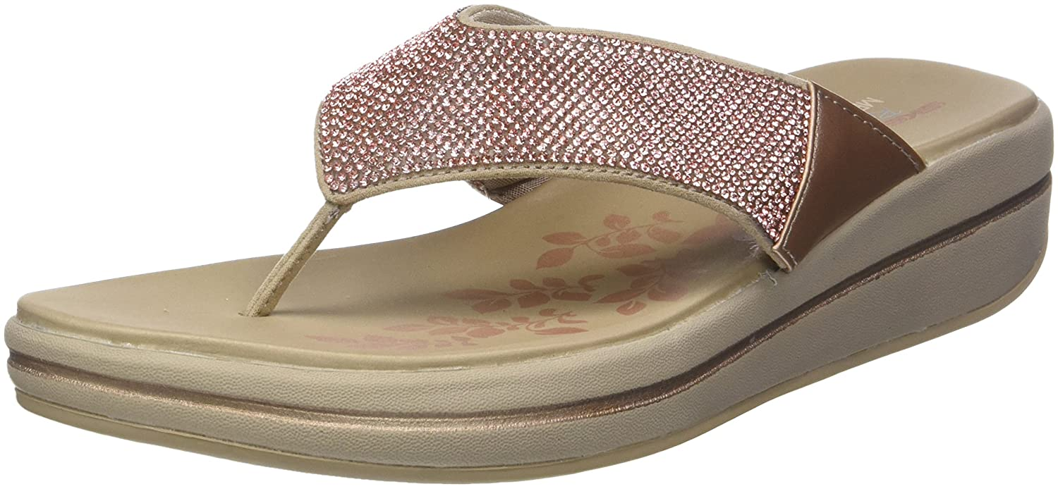 Skechers Damen Upgrades Plateau Sandalen  40 EU|Gold (Rose Gold)