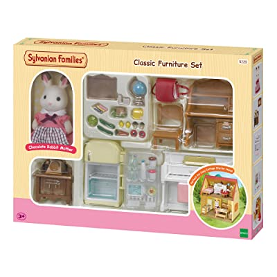 Sylvanian Families Classic Furniture Set for Cosy Cottage Starter Home, Multicolor: Toys & Games