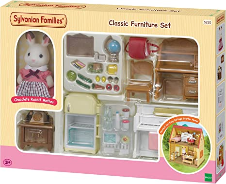Epoch U-90 Sylvanian Families baby doll chocolate rabbit family