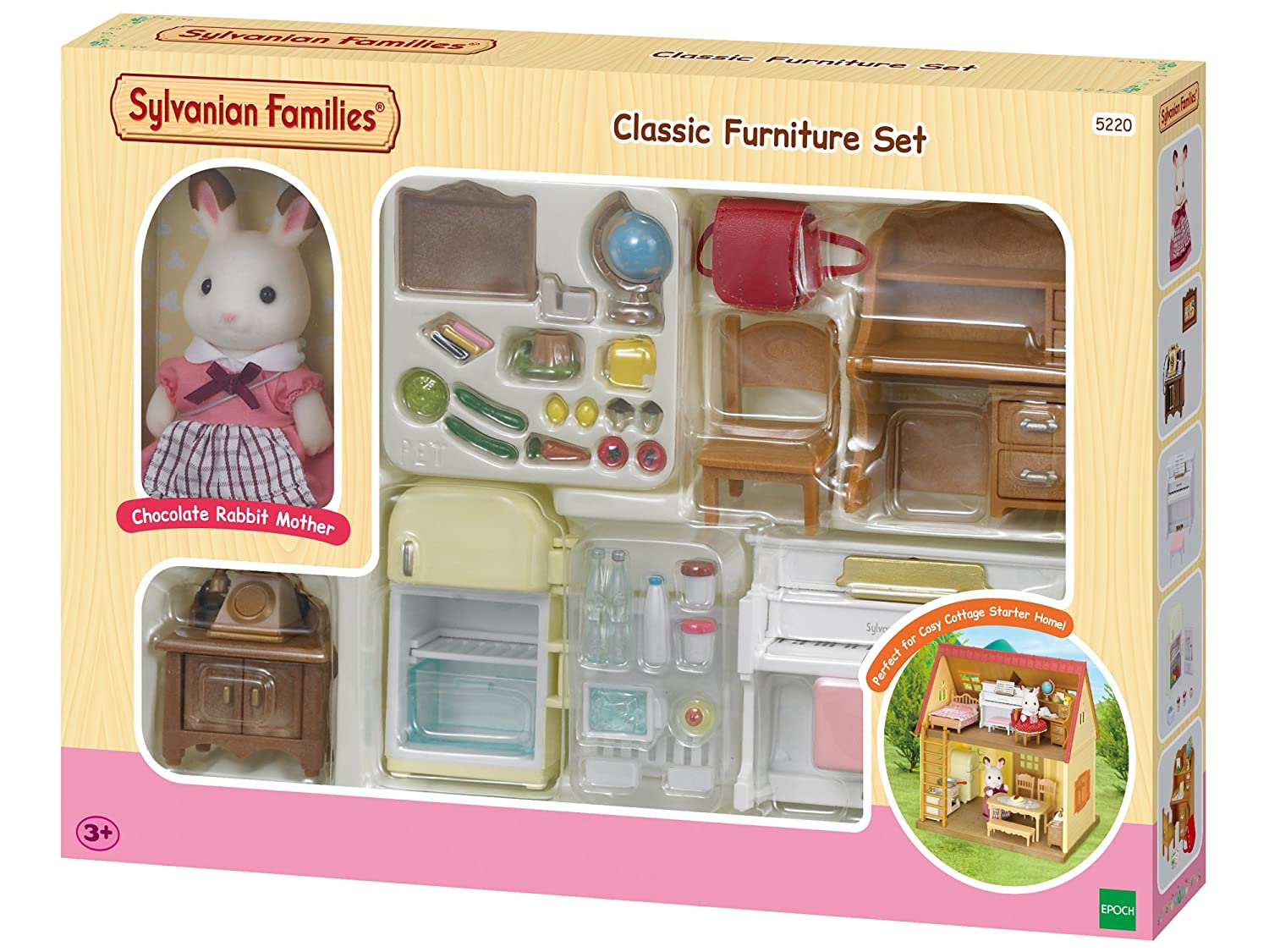Sylvanian Families Classic Furniture Set For Cosy Cottage Starter Home Amazoncouk Toys Games