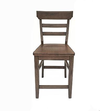 Amazon.com - Cochrane Ladderback Stool, Wood Seat - Kitchen ...