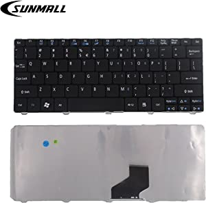 SUNMALL Laptop Keyboard Replacement Compatible with Aspire One D255e D257 D270 NAV50 O521 AO522 AO533 AOD255 AOD255E AOD257 AOD260 AOD270 Series Black US Layout