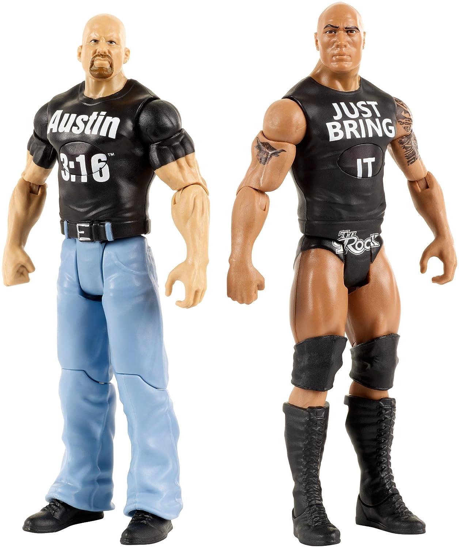 WWE Tough Talkers The Rock & Steve Austin Figure, 6 6 Mattel DXG92