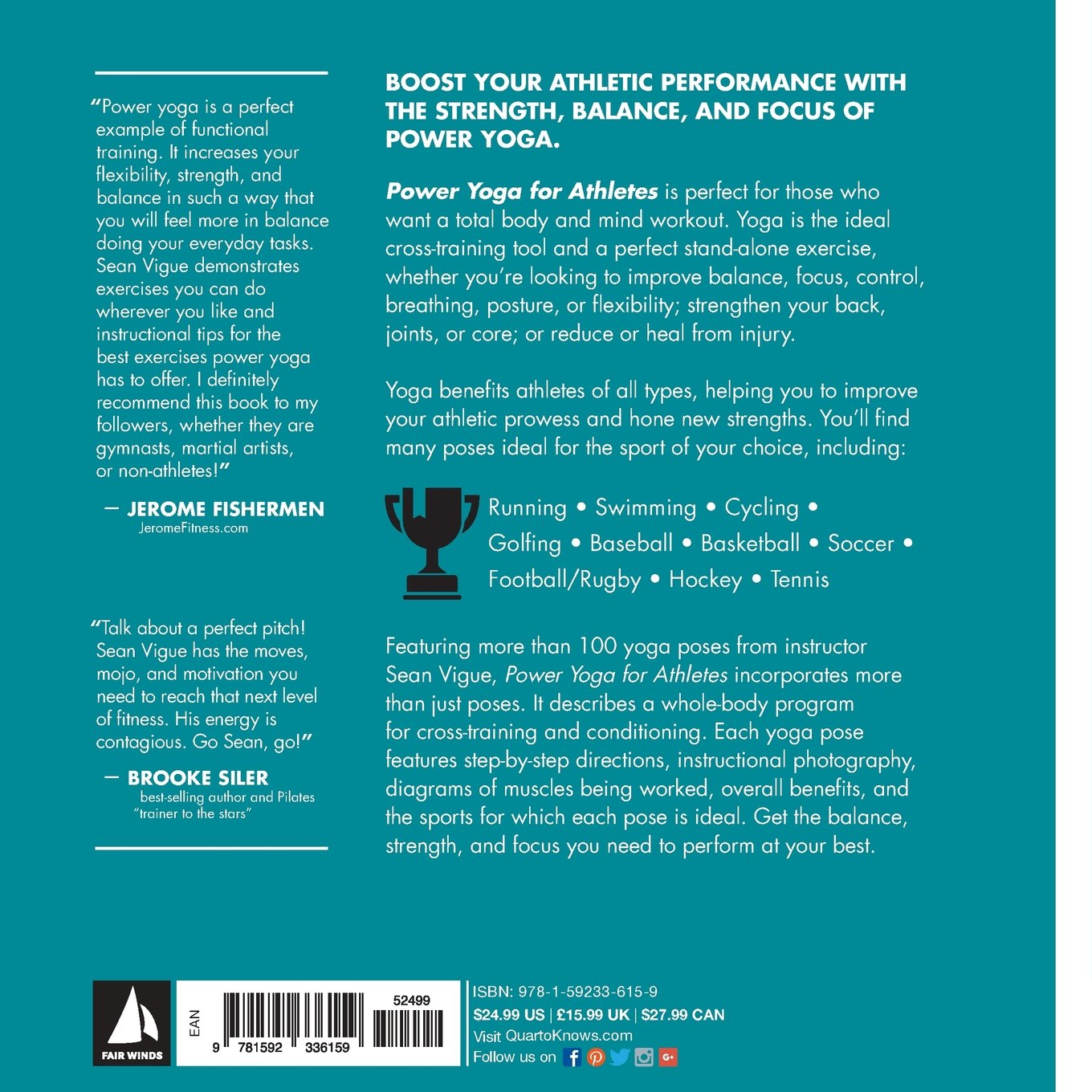 Power Yoga For Athletes: More Than 100 Poses And Flows To Improve  Performance In Any Sport: Sean Vigue: 9781592336159: Amazon: Books