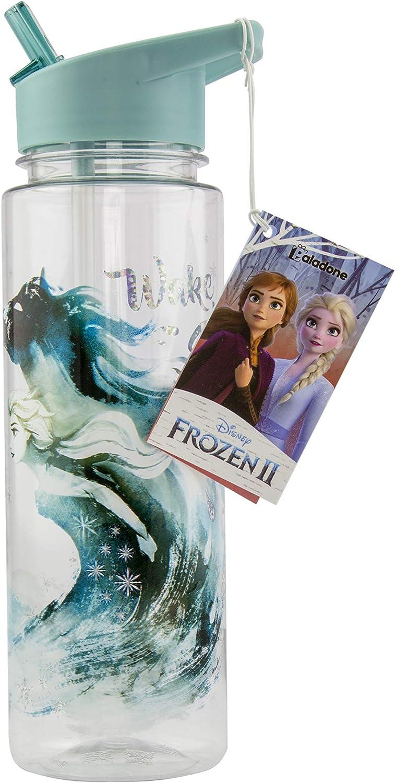 Paladone 2 botellas de agua | Diseño a prueba de derrames | Perfecto para el hogar, la escuela y la oficina oficial de Frozen Coleccionable, Multi, 650 ml