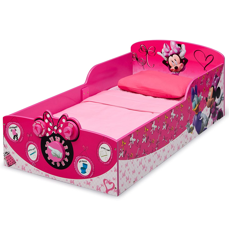 Amazon Delta Children Interactive Wood Toddler Bed Disney Minnie Mouse Baby
