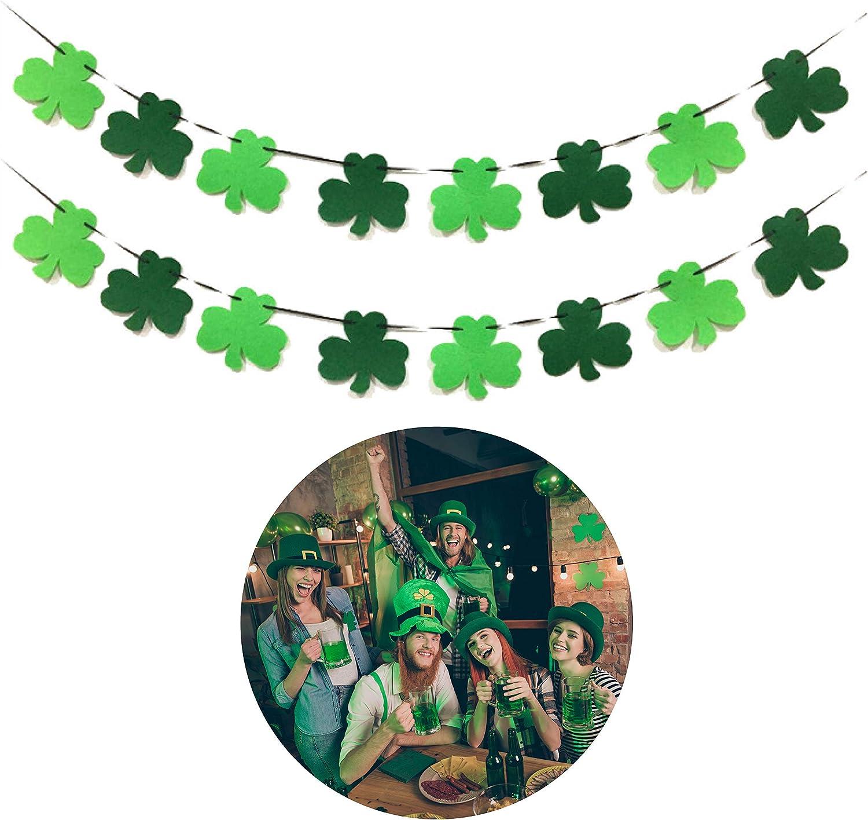 St Pattys Day Garland Saint Patrick Patricks Day Felt Ball Garland Green Bunting St Green Pom Pom Garland St Patricks Day Decoration