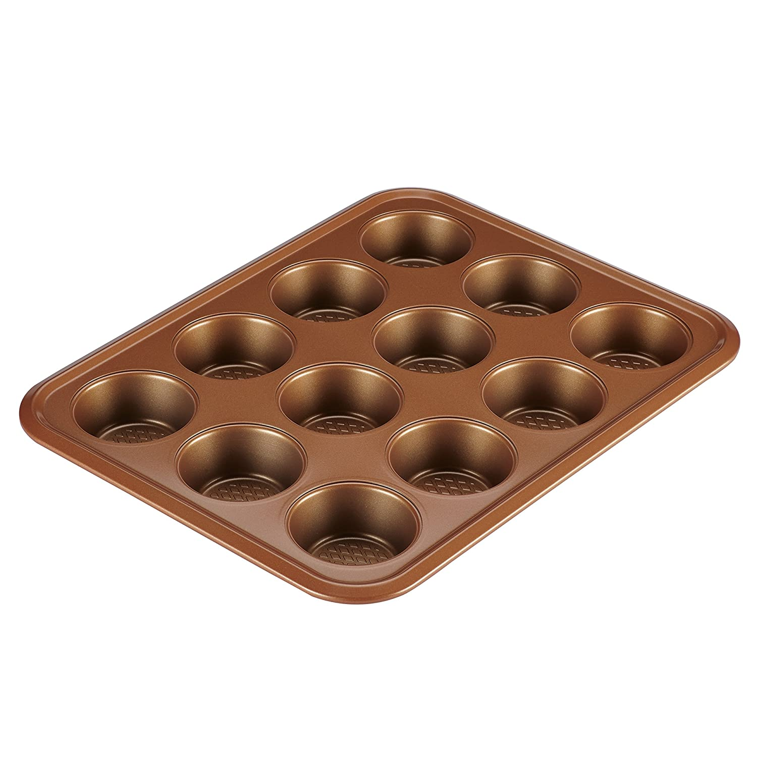 Ayesha Curry 47002 Bakeware 12-Cup Muffin Pans, Copper