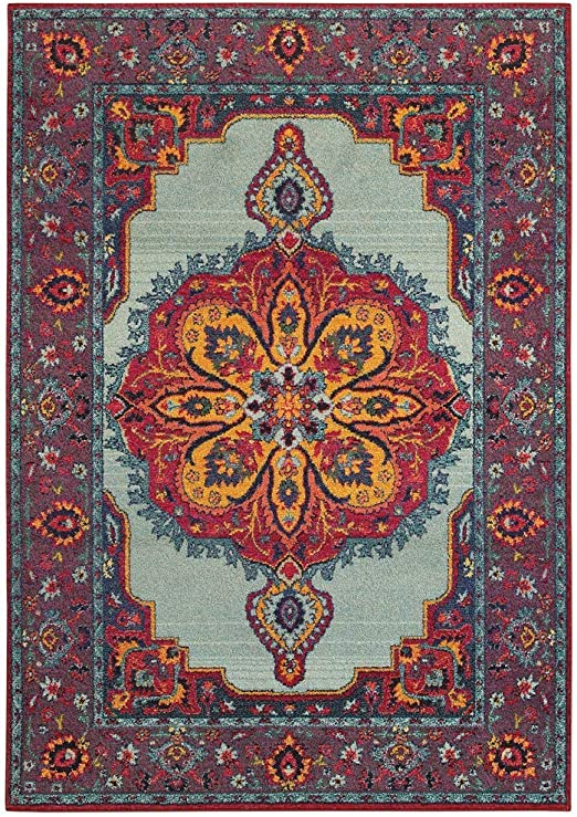 Oriental Weavers Bohemian Area Rug 2 X 10 Blue Purple Furniture Decor