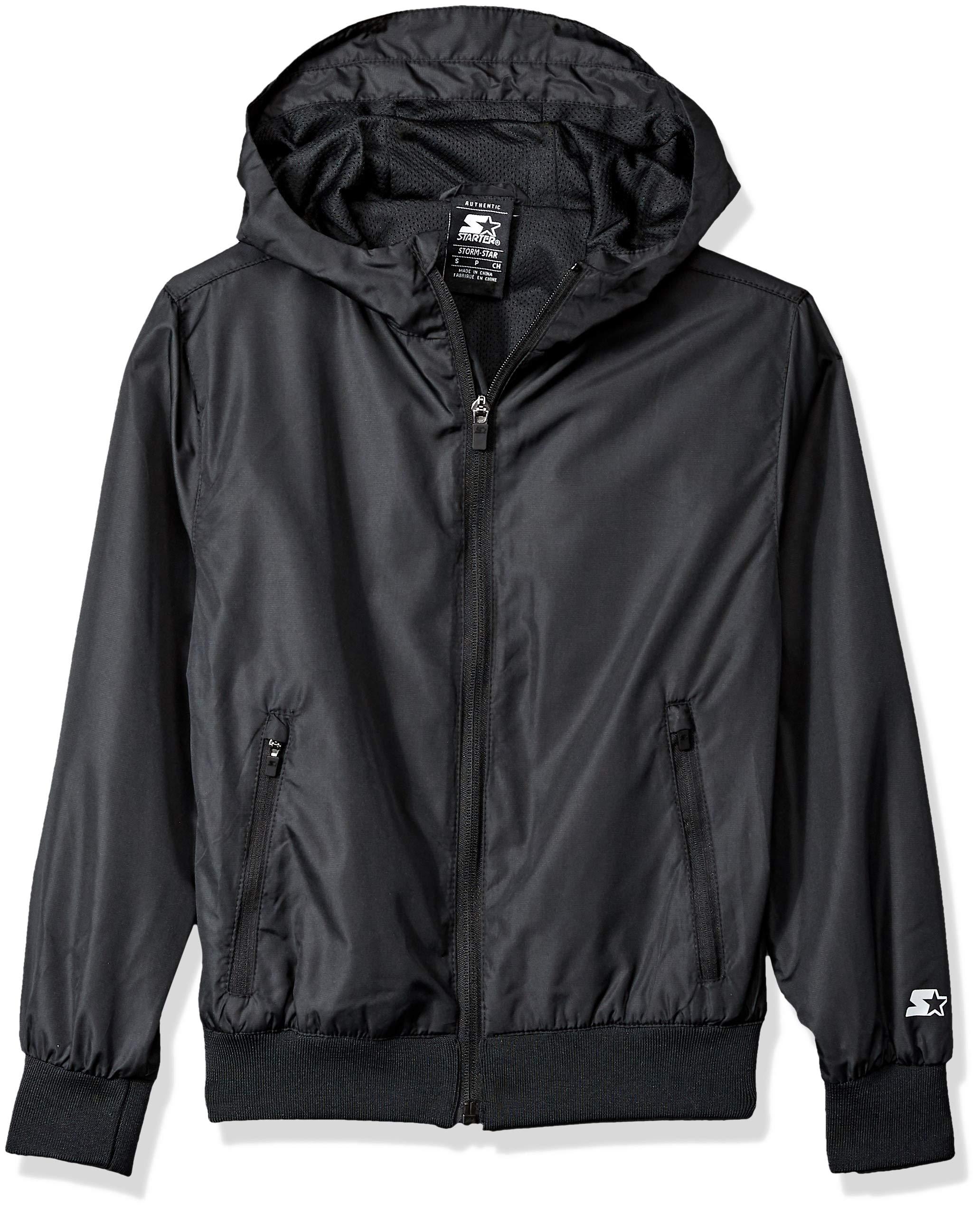 Starter Boys' Windbreaker Jacket, Amazon Exclusive, Black, XS (4/5)