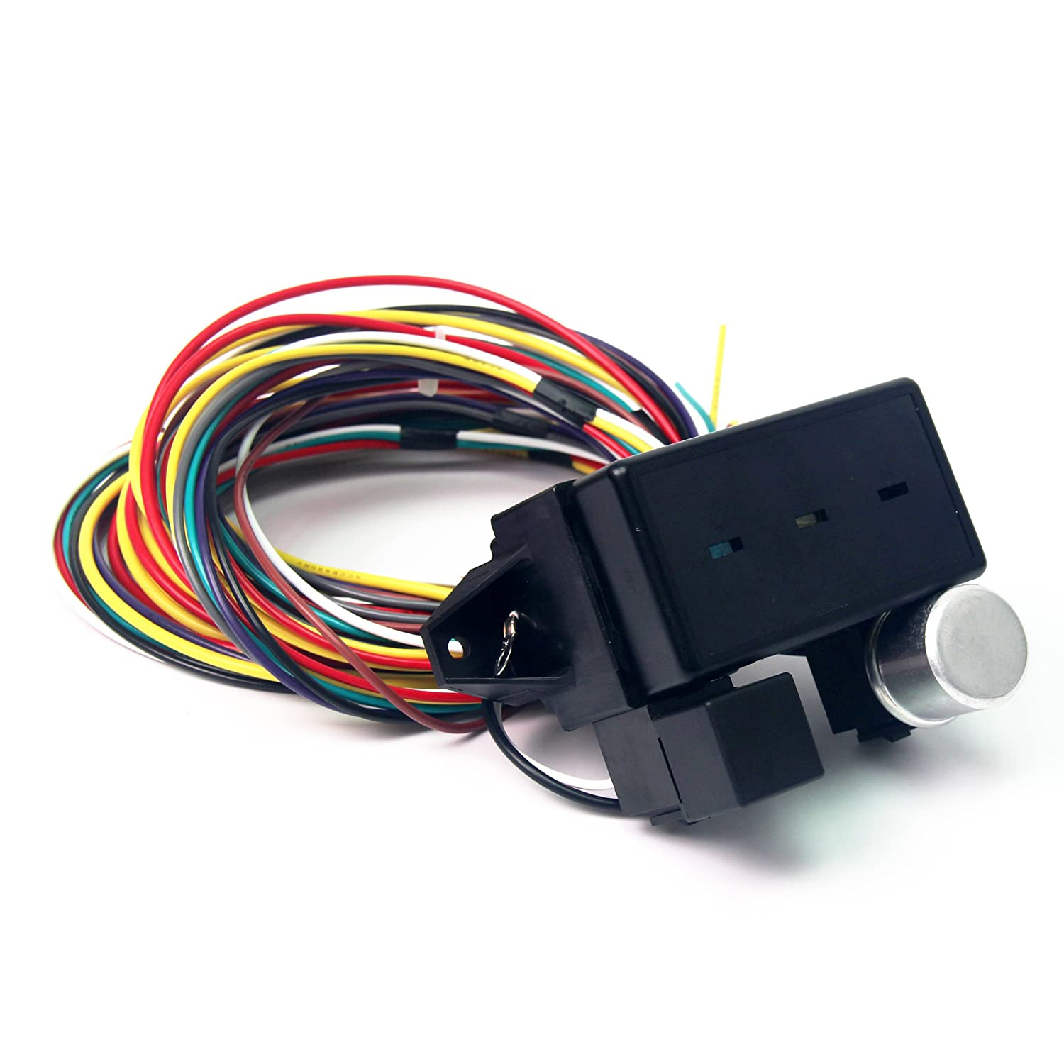 Wisamic 10 Circuit Basic Wiring Harness Fuse Box Street Cost Reduction Hot Rat Rod Car Truck 12v Automotive