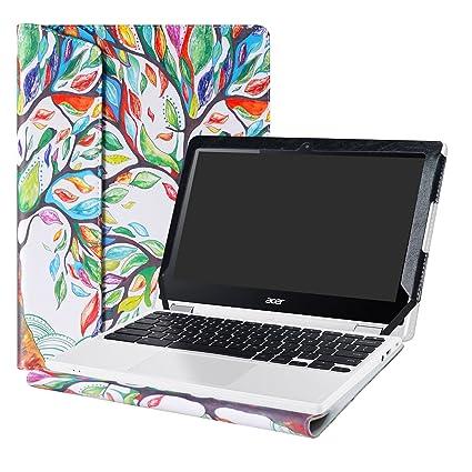 """Alapmk Diseñado Especialmente La Funda Protectora de Cuero de PU Para 11.6"""" Acer Chromebook R11"""