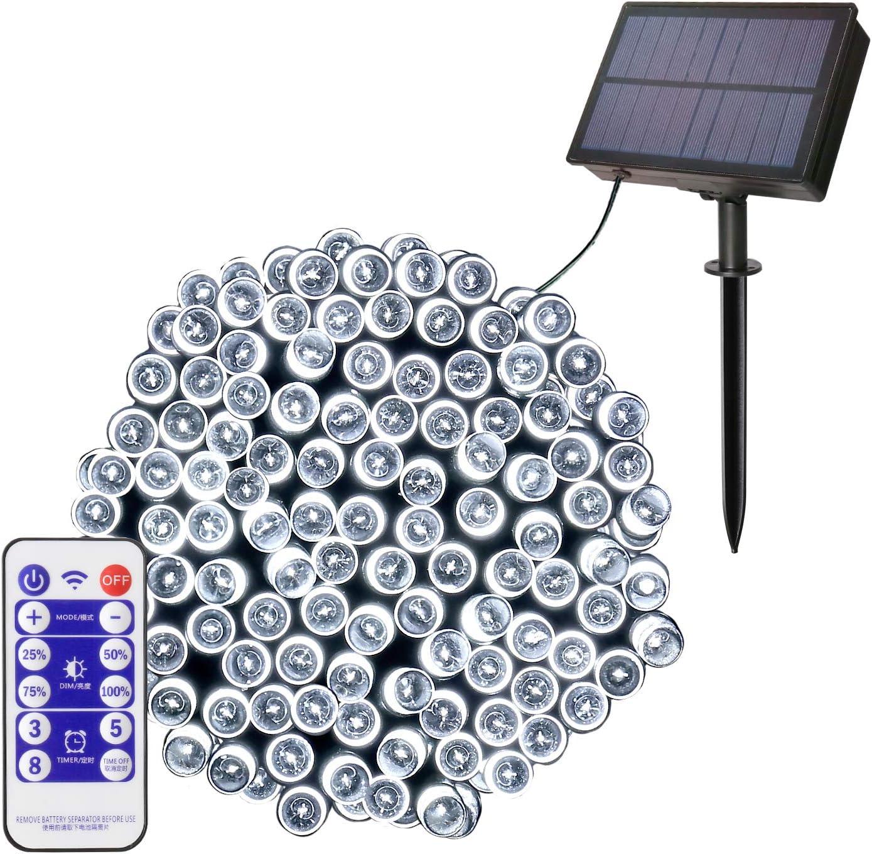 10//22M Fairy Xmas String Lights Solar Power 200LED Outdoor Garden Decor Lamp New