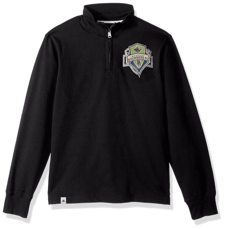 XX-Large Black adidas Adult Men MLS Crest Lifestyle 1//4 Zip