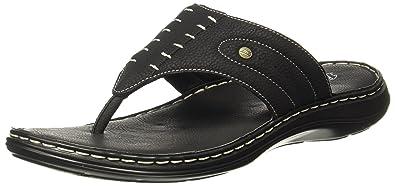 c8b02993dd9 BATA Men s Terrance Cushion Black Hawaii Thong Sandals - 10 UK India (44 EU