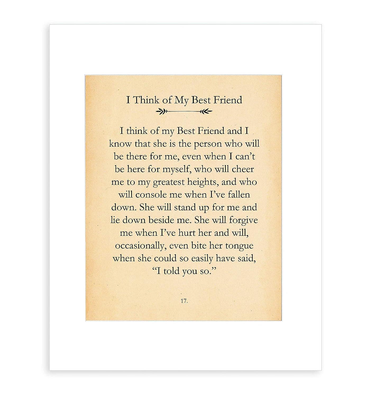 Amazon.com: Best Friend Quotes - Presents for Friends Women ...