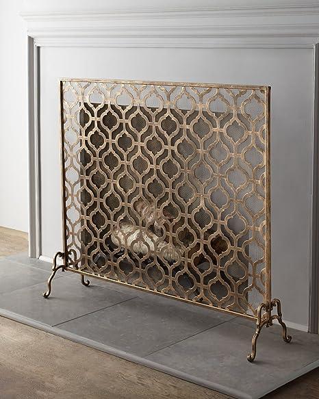 lexington single panel fireplace screen amazon co uk kitchen home rh amazon co uk