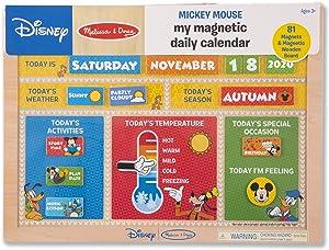 Melissa & Doug Disney Mickey Mouse My Magnetic Daily Calendar