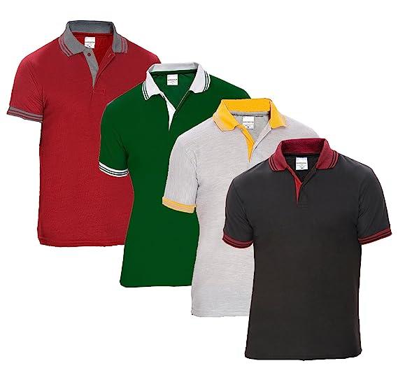 Baremoda Men s Polo T Shirt Black Grey Dark Green And Maroon Combo Pack of  4 ( c91df7f3f21