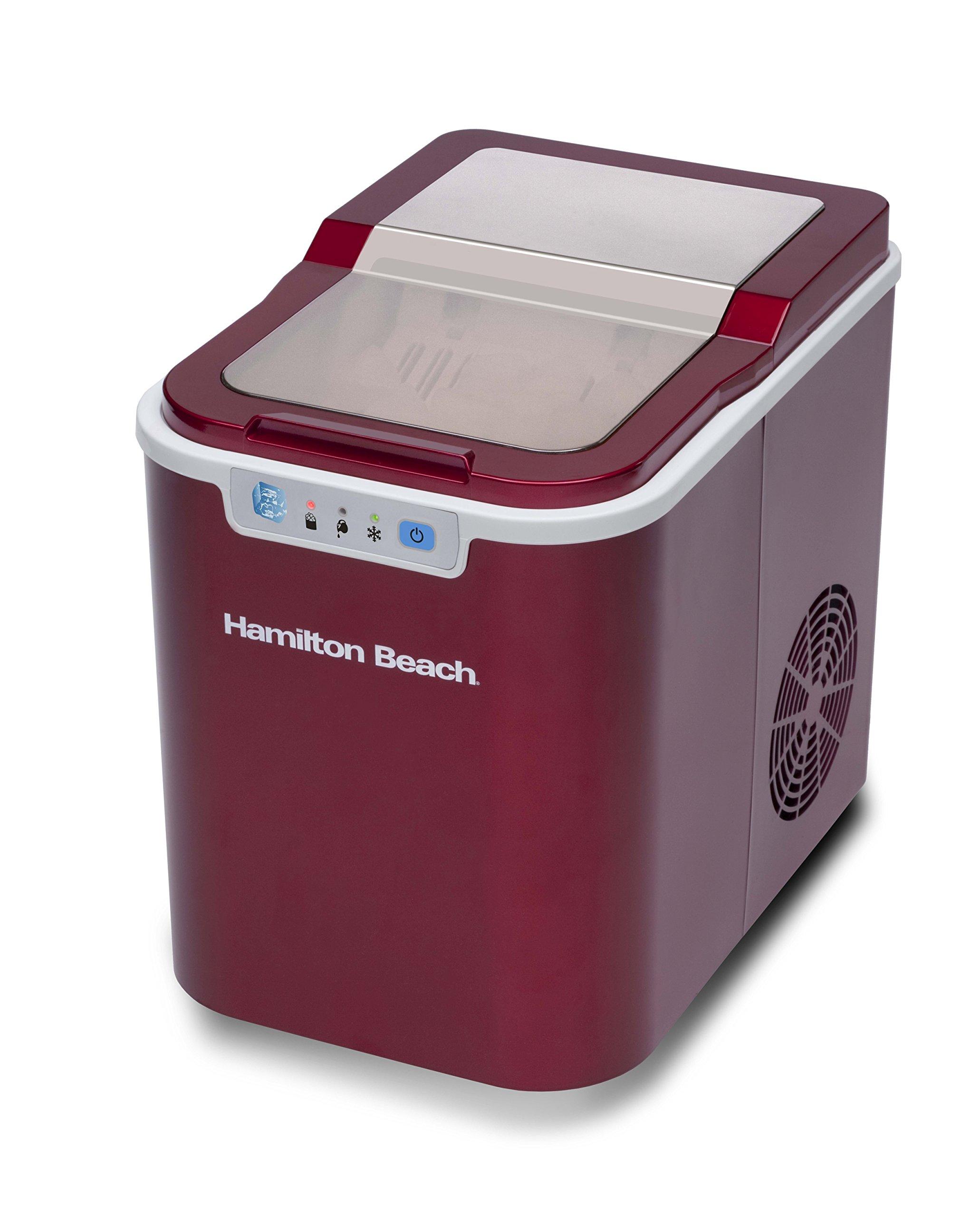 Hamilton Beach Portable Ice Maker, Candy Apple Red
