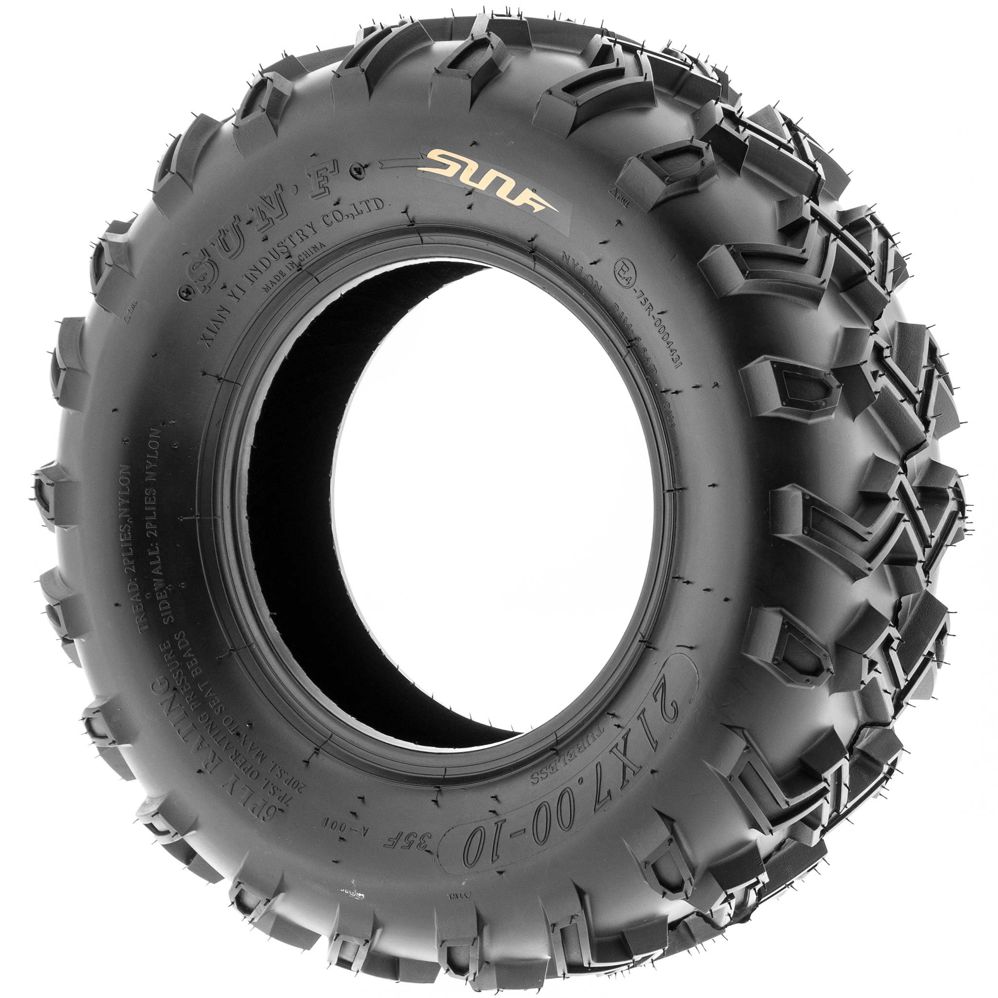 SunF 21x7-10 21x7x10 ATV UTV All Terrain Race Replacement 6 PR Tubeless Tires A001, [Set of 2] by SunF (Image #4)