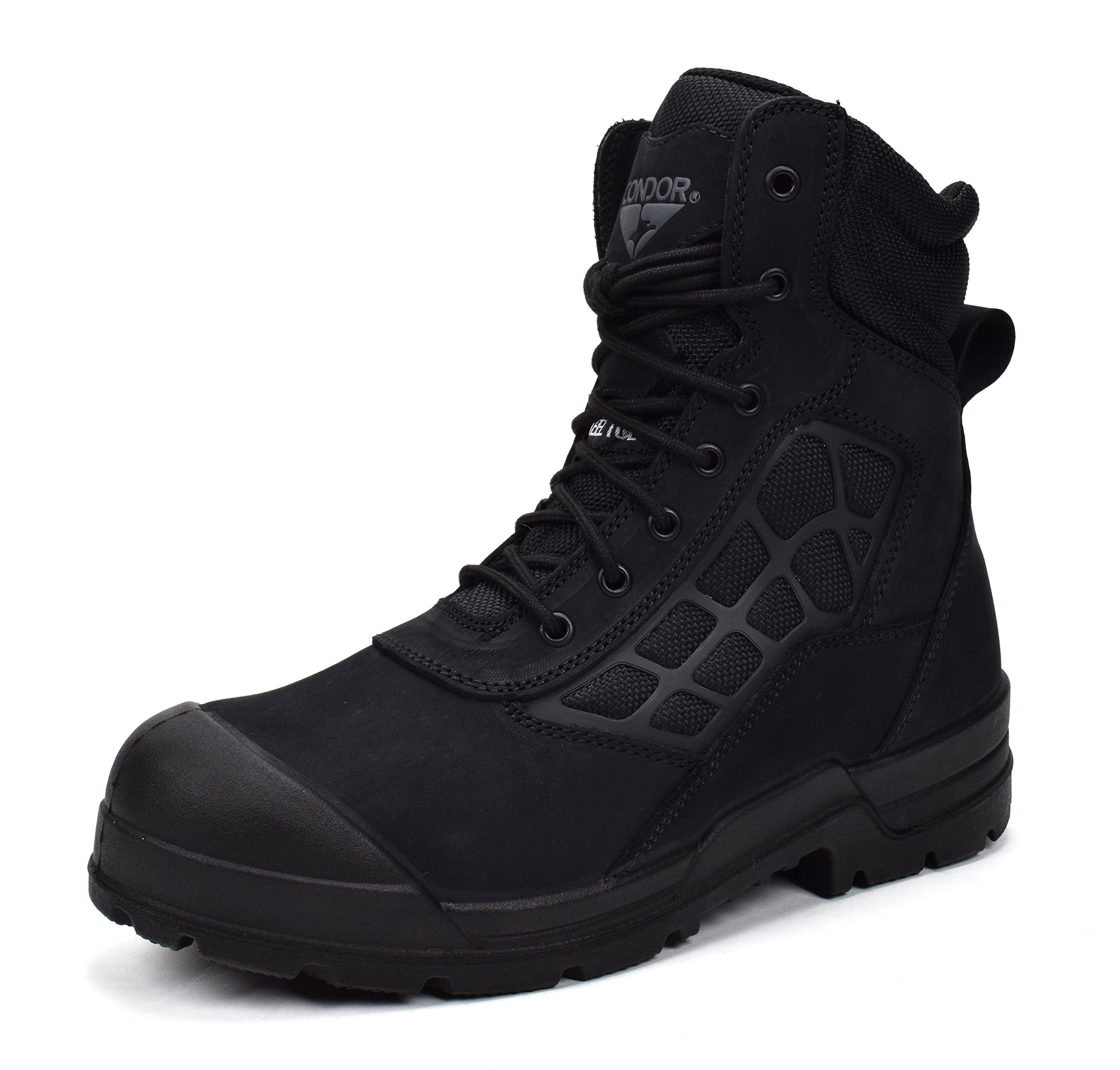 Condor Men's Colorado 8'' Steel Toe Work Boot (13 E US, Black Nubuck) by CONDOR