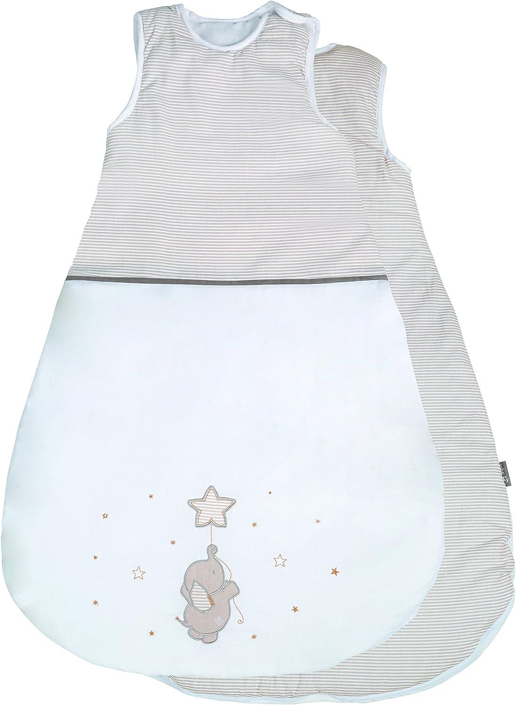 unisex utilizable durante todo el a/ño colecci/ón textil de roba Happy cloud Saco de dormir de 70 cm para bebes roba fabricado en algod/ón transpirable