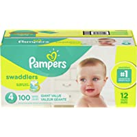 3 x 100-Count Pampers Swaddlers Disposable Baby Diapers (Size 4)