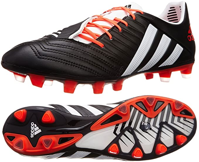 size 40 1d018 1cb22 Adidas Predator Incurza TRX FG Rugby Football Boots - Black   White   Infra  Red UK