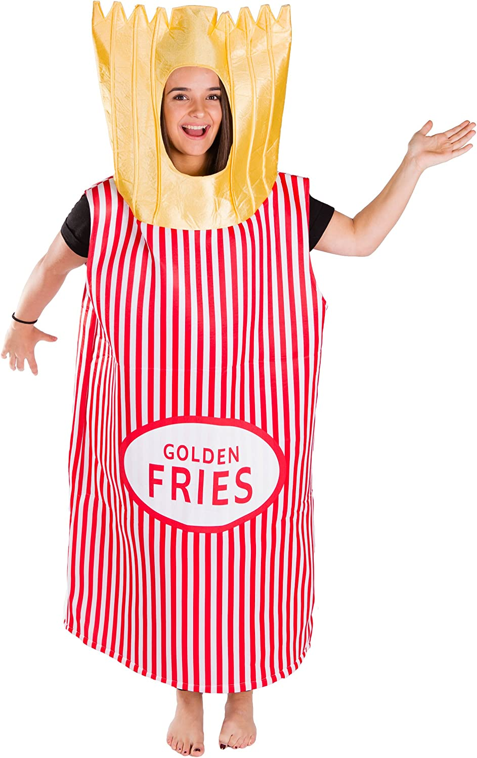 French Fries Fast Food Costume for Adults (One Size)