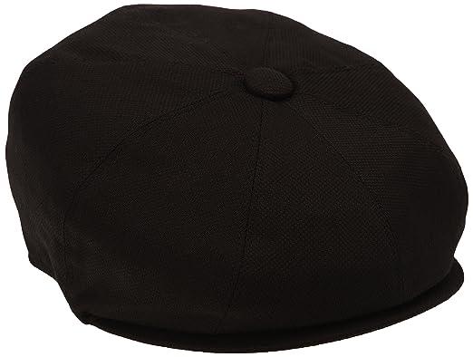 890d41656dd Jaxon   James Pique Cotton Knit Newsboy Cap - Black  Amazon.co.uk  Clothing