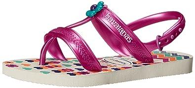 cf9753044258 Havaianas Kids Joy Spring Sandal White Flip Flop with Backstrap  (Toddler Little Kid)