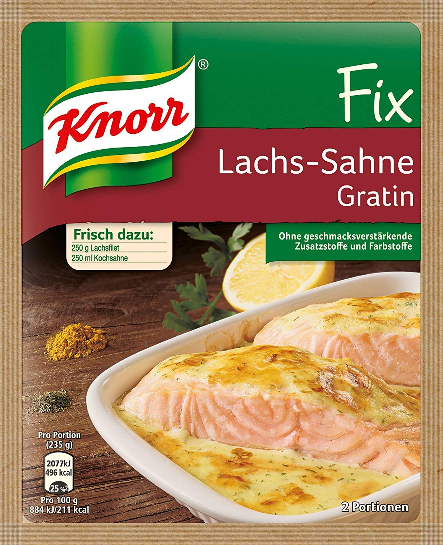 Knorr Fix creamy salmon gratin (Lachs-Sahne Gratin) (Pack of 4)