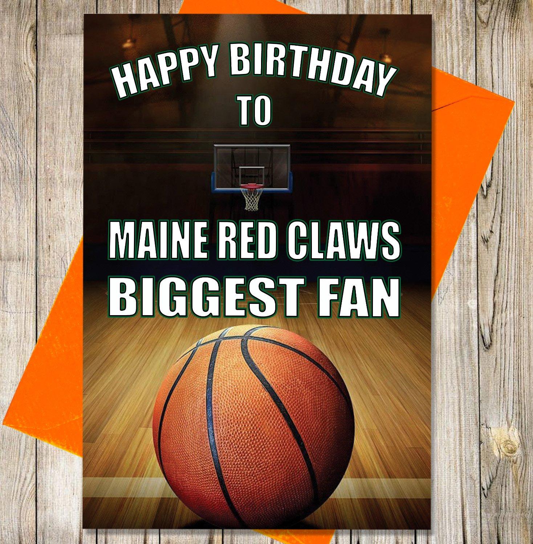 Baloncesto Tarjeta de cumpleaños - Maine rojo garras Biggest ...