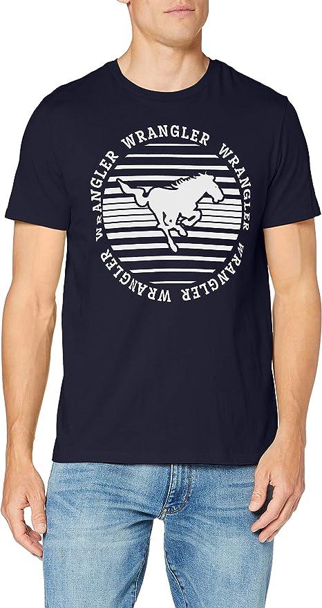 TALLA S. Wrangler Circle tee Camiseta para Hombre