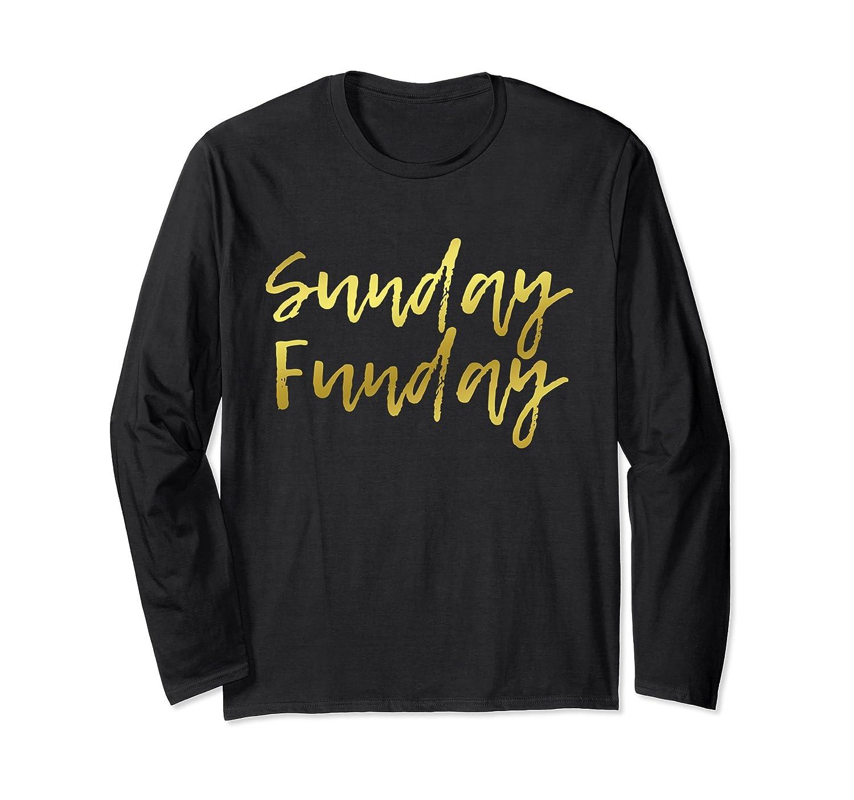 Sunday Funday Long Sleeve Shirt – Gold Football Design-Samdetee