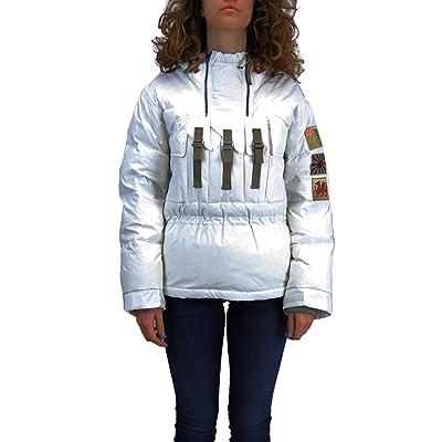 Kejo Yuko Patch Women Goose Down Windbreaker Jacket White
