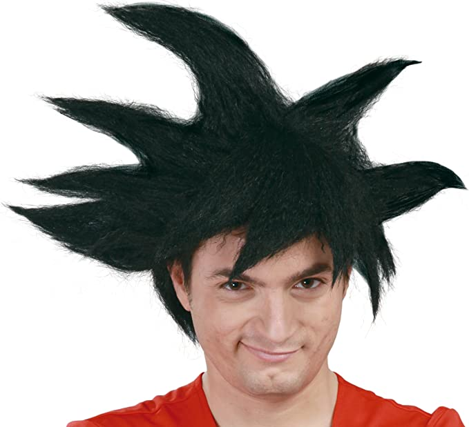 peluca negra para disfraz coslpay de goku
