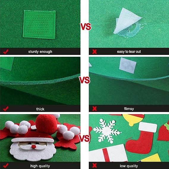 QQPOW DIY árbol de Navidad de Fieltro Regalo para niños Decoraciones colgantes Decoraciones de pared: Amazon.es: Hogar