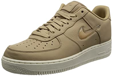 uk availability b1a5c 811e1 Nike Mens Air Force 1 Retro Premium Leather Fashion Sneakers Tan 8 Medium  (D)