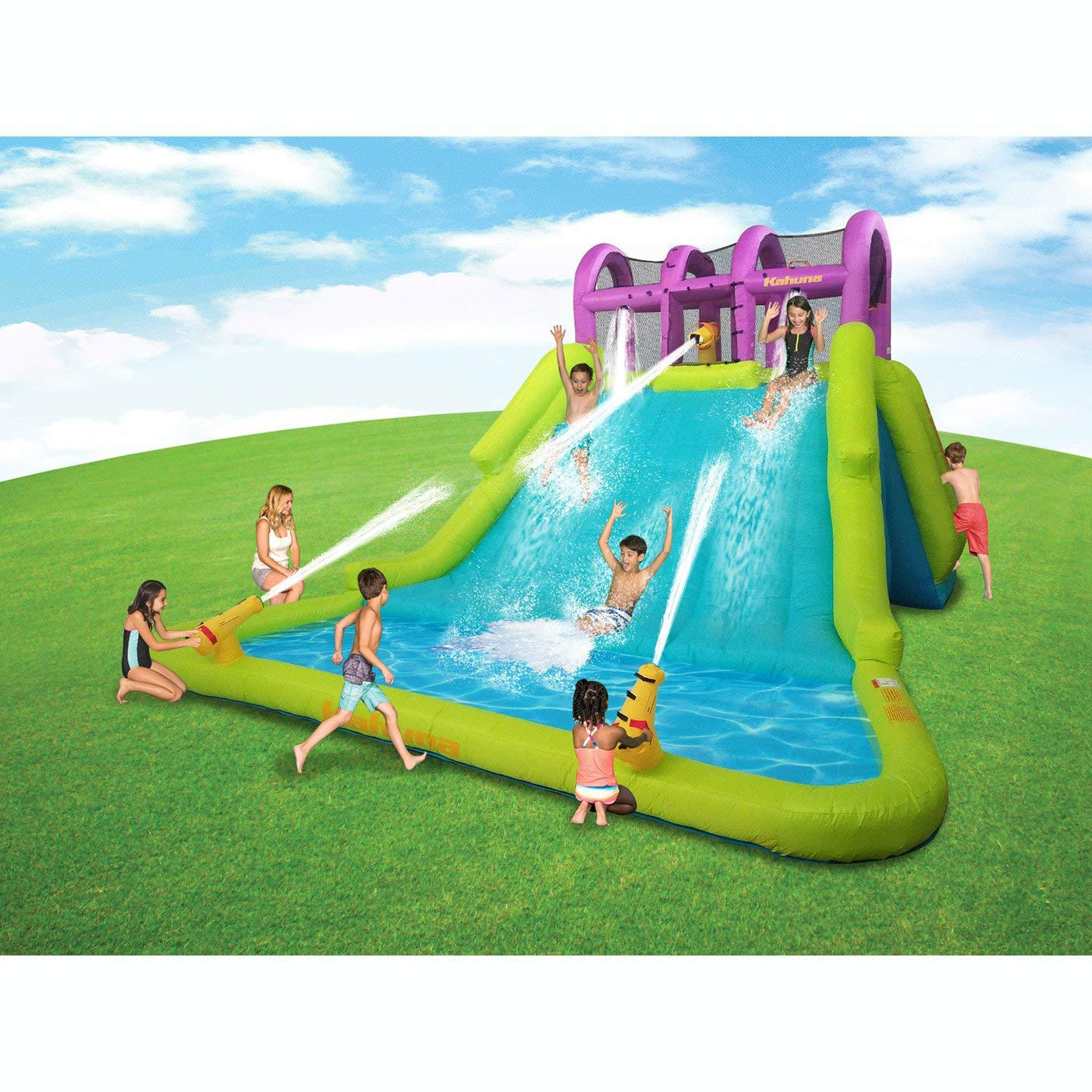 Kahuna Mega Blast Inflatable Backyard Kiddie Pool and Slide Water Park by Kahuna (Image #3)