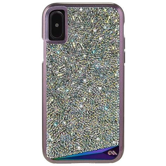 wholesale dealer 3fa8f 68cb4 Case-Mate iPhone X Case - Brilliance - 800+ Genuine Crystals - Protective  Design for Apple iPhone 10 - Iridescent